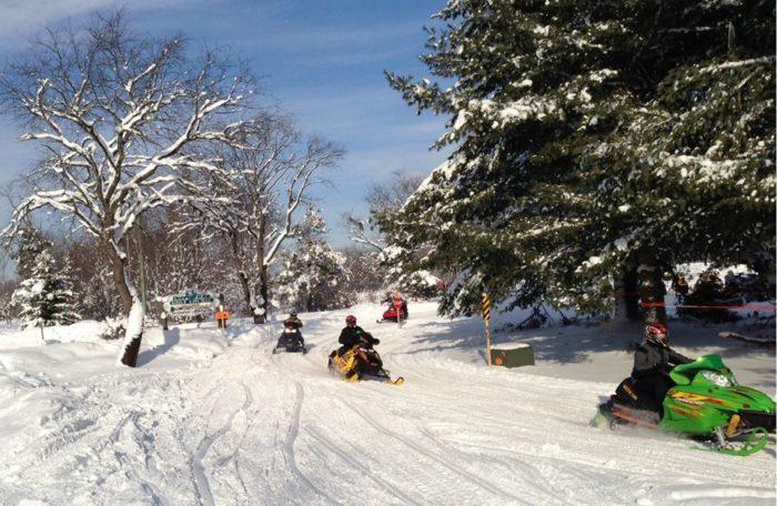 Snowmobile Gaylord Michigan.