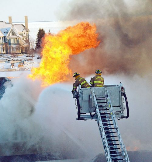 Updated: Fire heavily damages Bay Harbor home, neighboring home saved