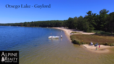 Otsego Lake State Park, a Michigan park located near Gaylord